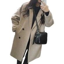 TAJIYANE 2018 Autumn Winter Coat Women Korean Vintage Long Jacket Ladies Coats Warm Casaco Woolen Coat Casaco Feminino ZL302