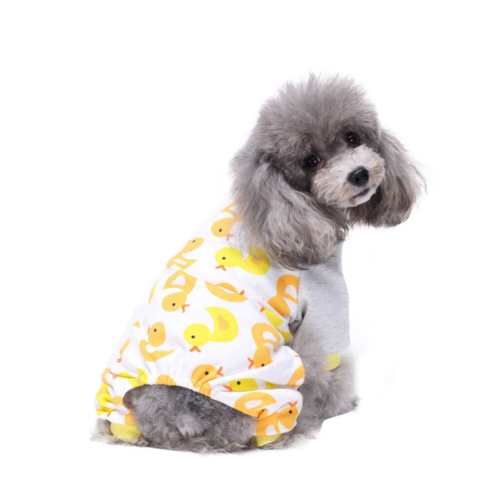 XS/S/M/l/XL Cute Pet Puppy Dog Cotton Pajamas Teddy Dog Soft Homewear Cartoon Pajamas Jumpsuit #02