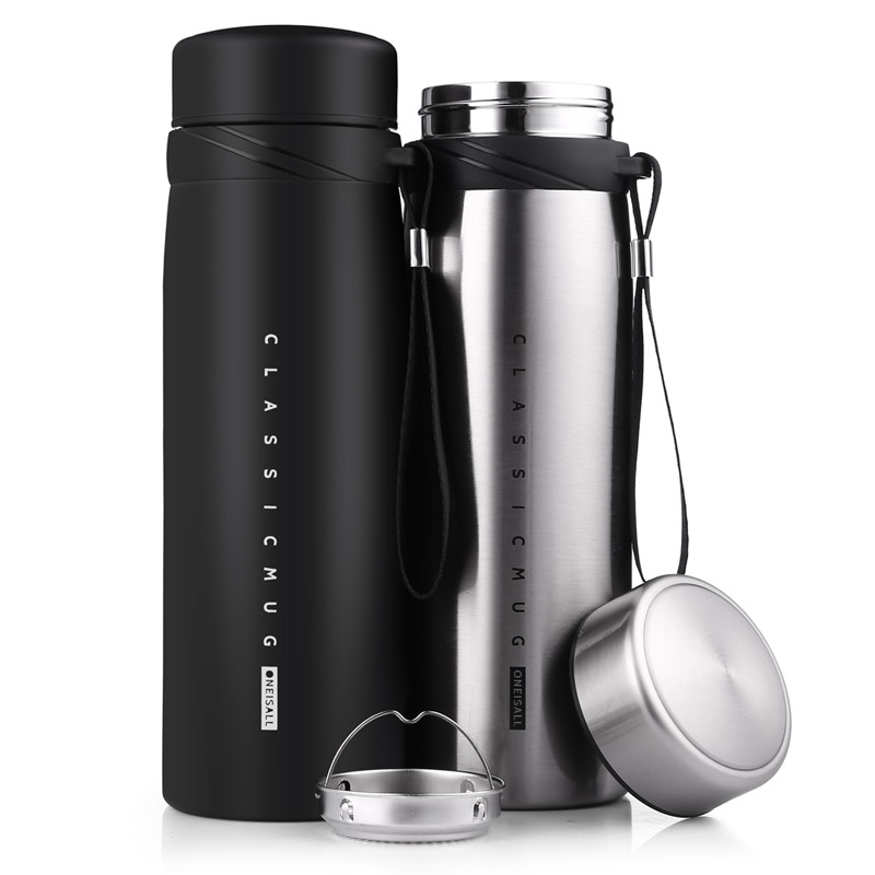 900ml Thermo Mug Thermos Bottle for Tea Coffee Insulated Vacuum Flask with Tea Infuser Tumbler Coffee Mug Vacuum Flask Аппаратный порт