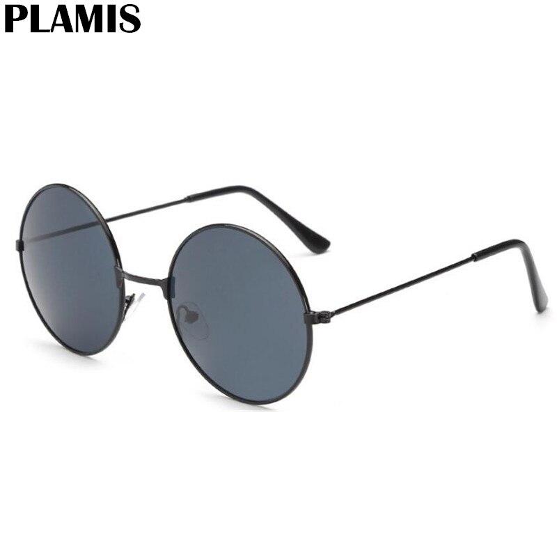 Солнцезащитные очки с антибликовыми линзами UV400 женские, винтажные солнцезащитные аксессуары в круглой металлической оправе