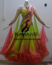 KAKA DANCE B1428,2014 Pakaian baru Tari Ballading Wear Ballroom Standard, Pakaian Pertandingan Waltz, Wanita, Pakaian Tarian Ballroom