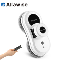 Alfa wise S60 Window Cleaning Robot Window Vacuum Cleaner Remote Control High Suction Anti falling APP Control UPS System