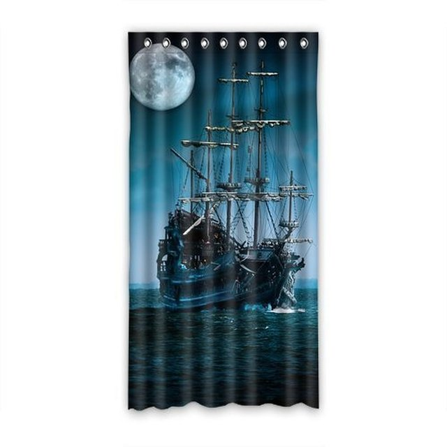 DIY Deco Custom Pirate Ship Shower Curtain For Bathroom 69inches X 72inches