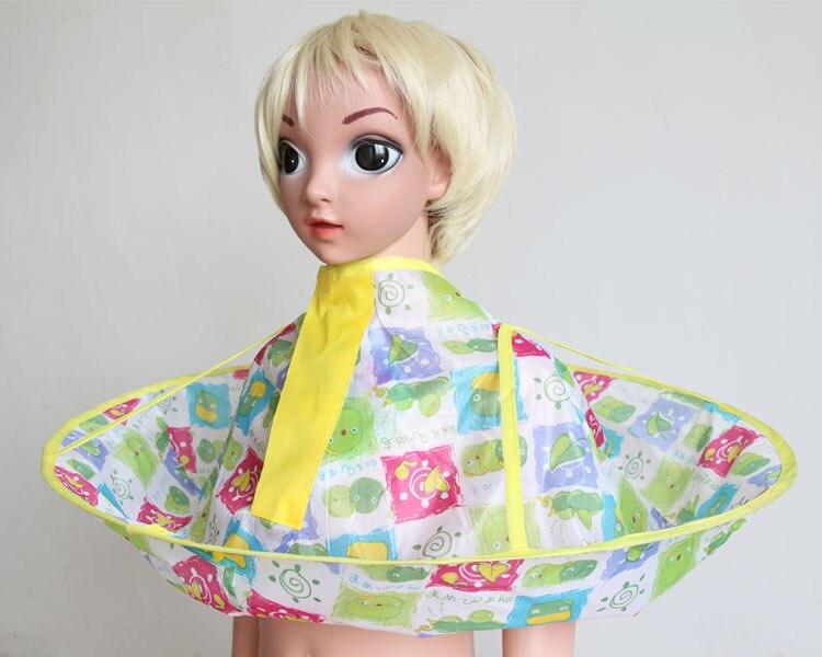 Плащ для стрижки волос накидка-зонтик салон водонепроницаемый детский домашний парикмахерский для детского парикмахера дизайн платья парикмахеров - Цвет: chicken