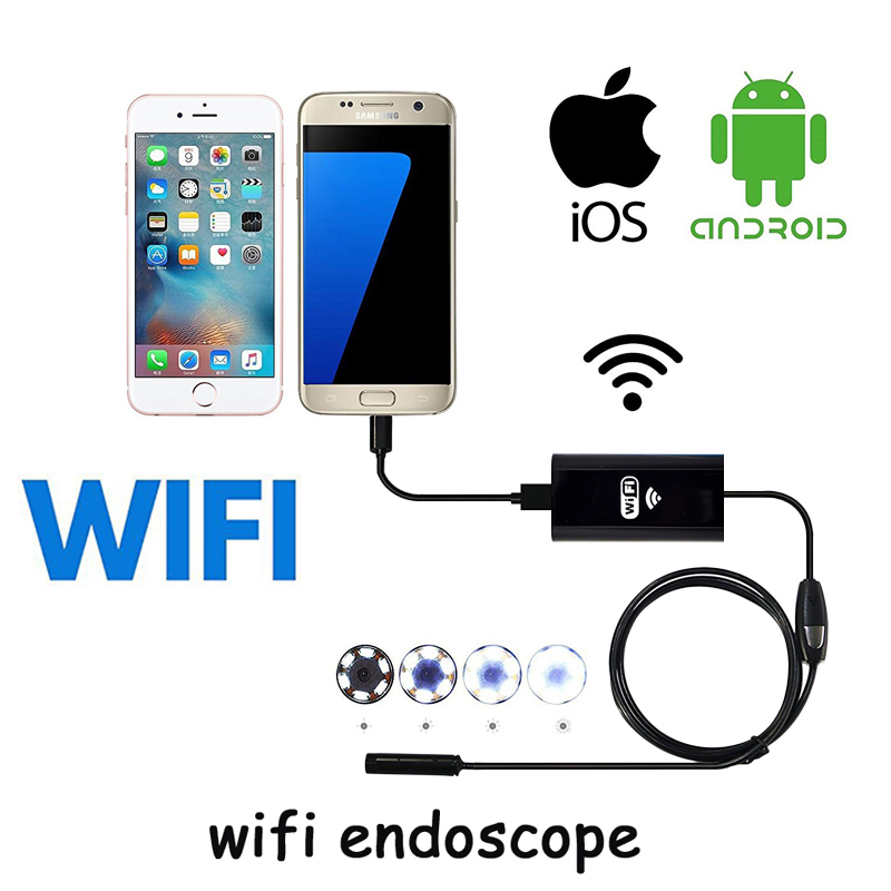 Wifi Endoscope Hard Cable Borescope Wi fi Endoscope Camera 720P Wi-fi Endoskop Waterproof Android iOS Phone Car Endoscopio Pipe wi fi ������������