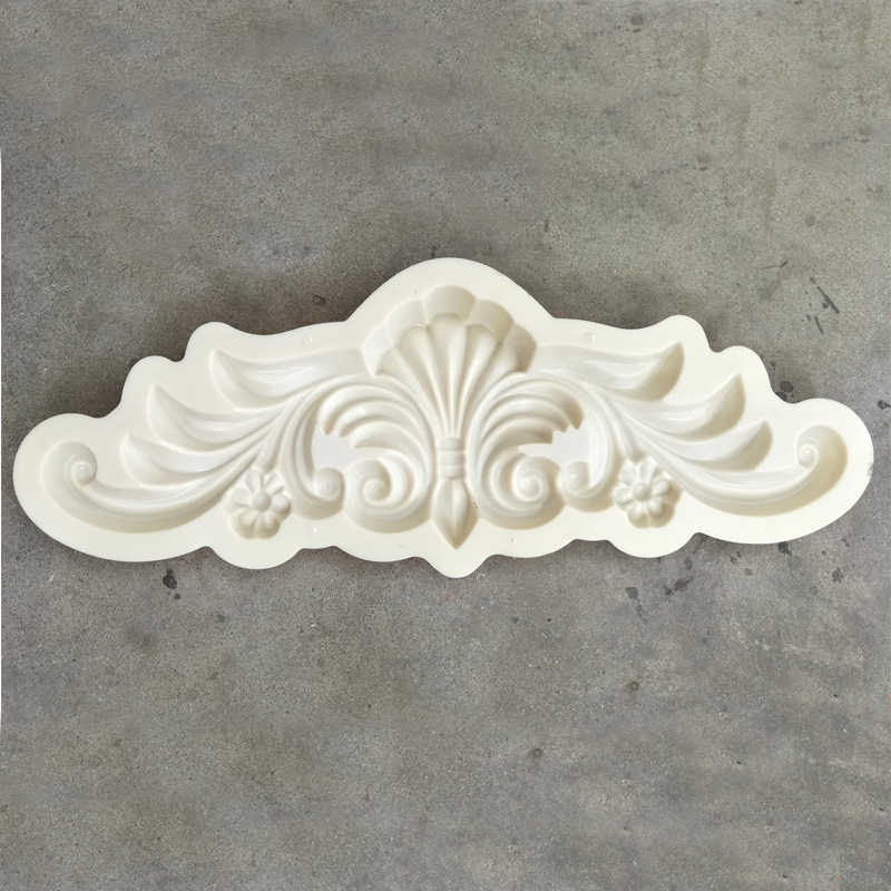 plastic molds Decorative Texture wall Carved Wave Flower Decal Corner Applique for house wall decor 900x280mm