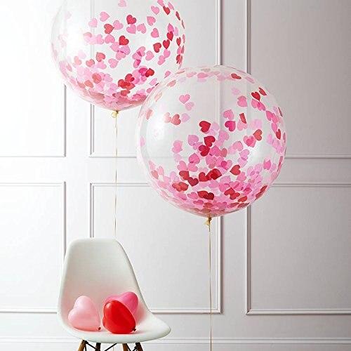 Confetti Balloon Jumbo Latex Balloon Filled Multicolor (36
