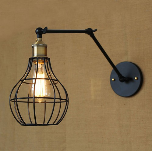 IWHD American Loft Style Edison Wall Sconce Industrial Vintage Wall Lamp Adjustable Iron Wall Light Fixtures Home Lighting iwhd american edison loft style antique pendant lamp industrial creative lid iron vintage hanging light fixtures home lighting
