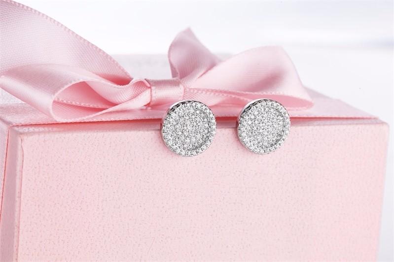 925-sterling-silver-jewelry,White Crystal Zircon Earrings Stud Earrings For Women 925 Sterling Silver Earrings Fashion Jewelry DE54610A (6)