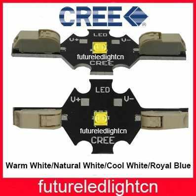 1 шт./лот Бесплатная Доставка без припоя Cree XT E XTE 5 Вт LED теплый белый 3000 3200 к