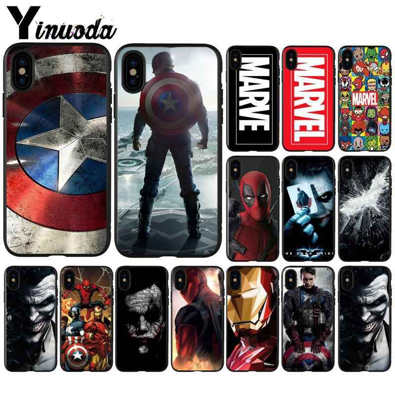 Yinuoda Marvel The Avengers Jorker Dead Pool Drop Resistance Smartphone Case for Apple iPhone X XR MAX 8PLUS 7PLUS 7 8 6S 5 SE