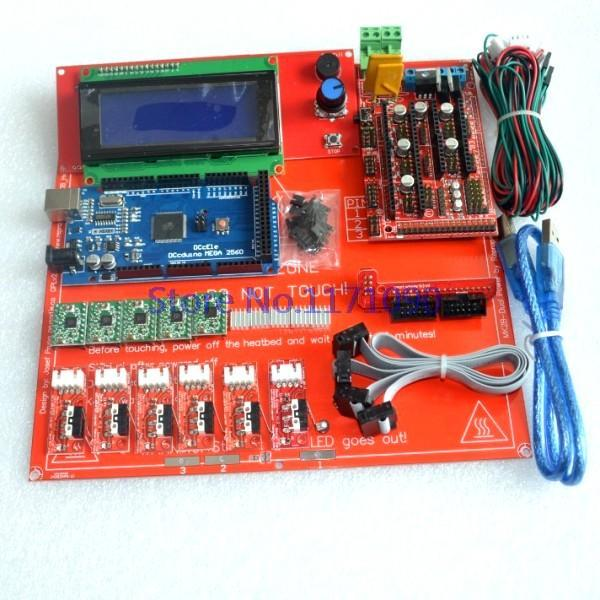 Reprap Ramps 1 4 Kit With Mega 2560 r3 Heatbed mk2b 2004 LCD Controller A4988 Driver