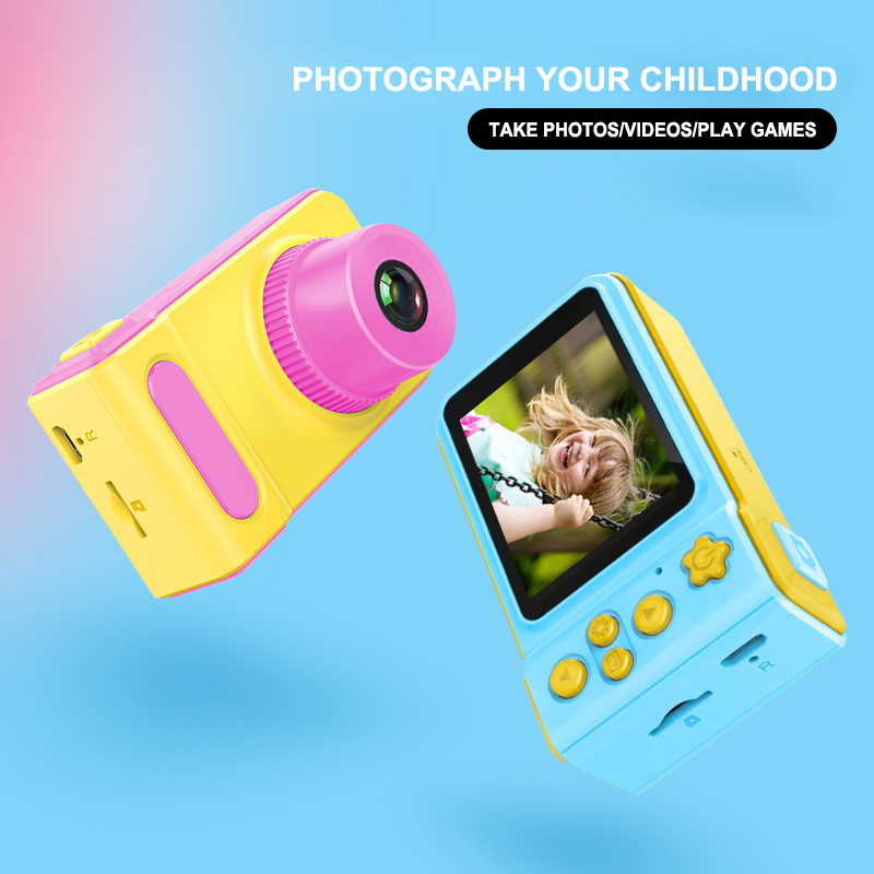 Newest Mini Cute Camera Children's Small Digital Camera SLR Motion Camera Toy Cartoon Game Photo Birthday Gift For Children GT image