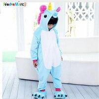 TOP Children Kids Pajamas Unisex Cosplay Animal Costume Onesie Nightwear Penguin Unicorn Stitch Panda Dinosaur Giraffe