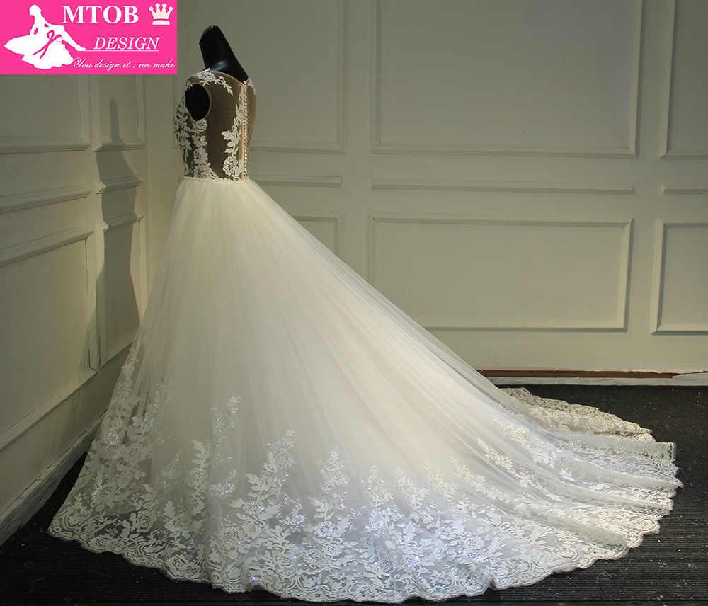 Модное кружевное свадебное платье русалки 2019 сексуальное прозрачное платье со съемным шлейфом Vestidos De Noiva, платья невесты MTOB1736