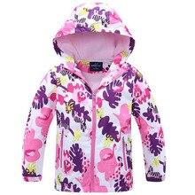 2019 Brand Flower Polar Fleece Girls Jacket For Child Clothing 3-12T Outerwear Coat Spring Autumn Kids Windbreaker Jackets