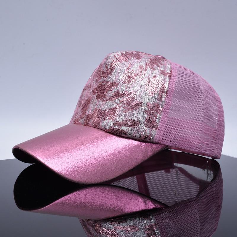 b34ca1aabb9 TQMSMY summer sequins splice baseball cap for women lace net adjustable  bone snapback hat trucker cap men hip hop caps TMWL02-in Baseball Caps from  Apparel ...