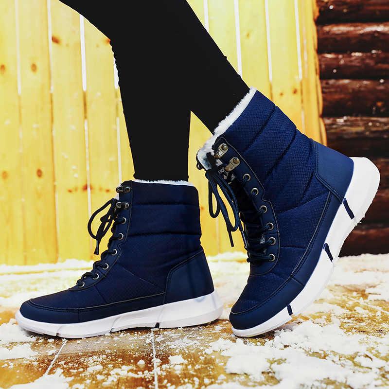 STQ 2020 kış kadın kar botları Platform yarım çizmeler kadınlar sıcak kürk düz su geçirmez yağmur çizmeleri kadınlar için yürüyüş botları 8827