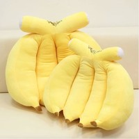Freeshipping 35cm Banana Plush Pillow Soft Stuffed Pillow Whole Sale And Retails Factory Supply