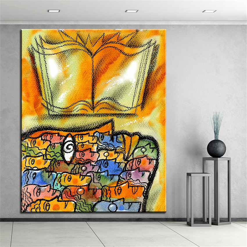 Large size Printing Oil Painting knowledg Wall painting Home ...