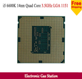 Оригинальный Процессор Intel i5 6600 К 14nm Quad Core 3.5 ГГц LGA 1151 Кэш TDP 95 Вт 6 МБ С HD Graphics Рабочего ПРОЦЕССОРА