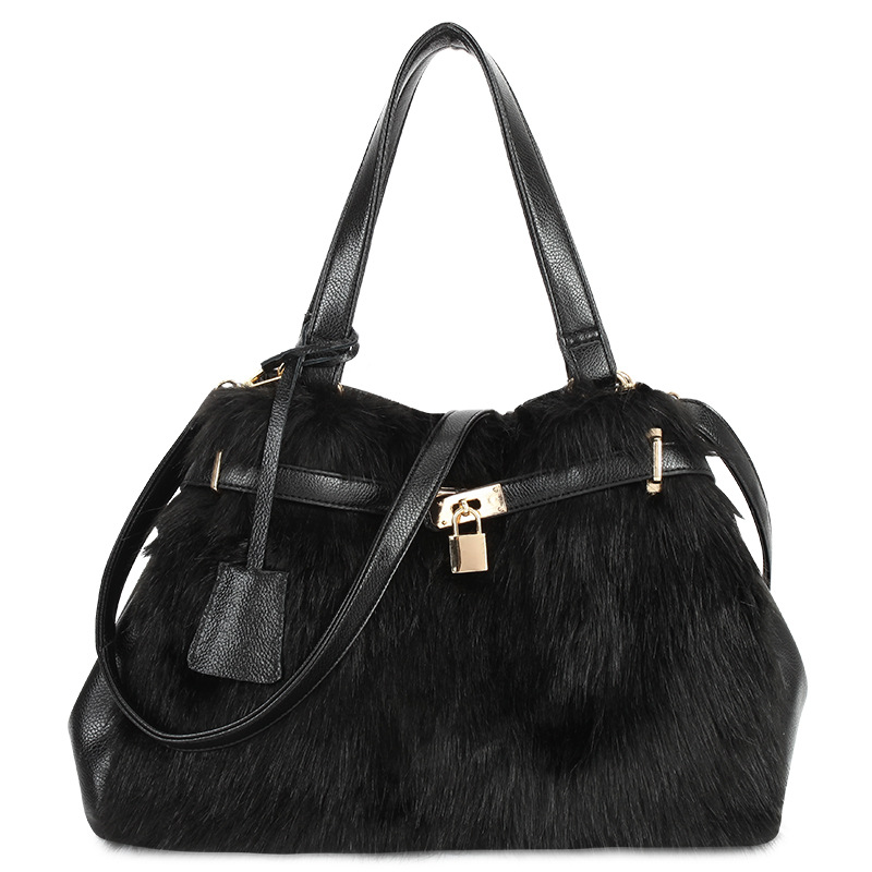 luxury handbags women bags designer brand famous genuine leather ladies handbags Real fox fur female messenger bag Tote sac купить
