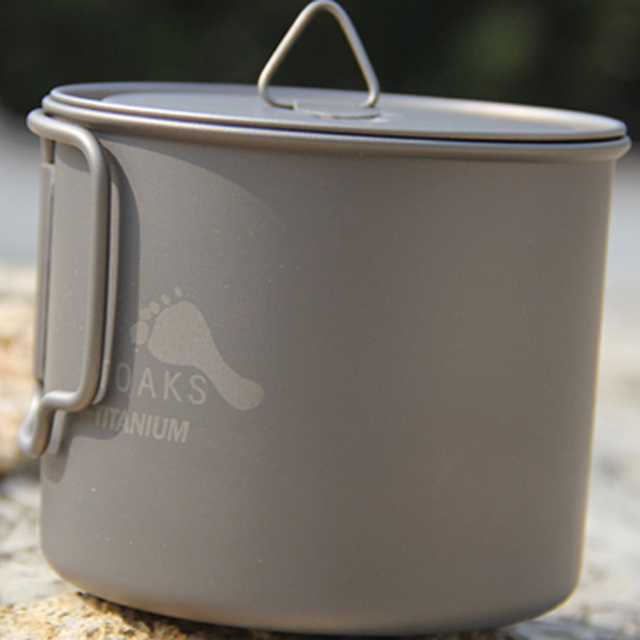 Outdoor Cooking Utensils Anium Cup Pot Single Lightweight Non Toxic 750ml