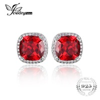 JewelryPalace 7ct WomenPigeon Blood Ruby Stud Earrings Set Solid 925 Sterling Silver 2016 Brand New Sale