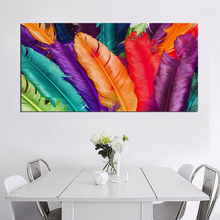 3D Wall Canvas Paintings Golden Feather