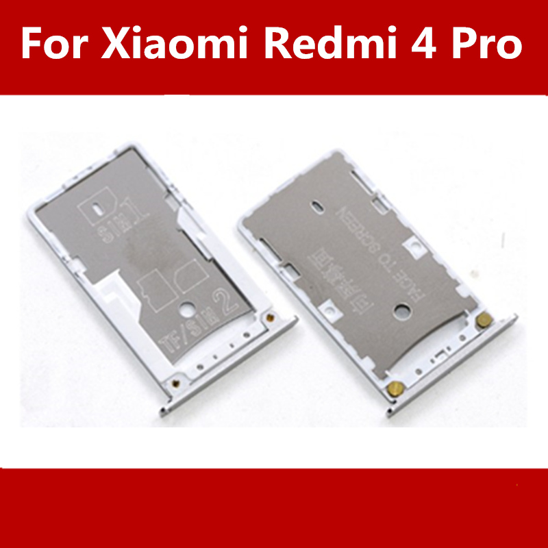 New SIM Tray Sim Card Holder Slot used+100% Replacement replacements For Xiaomi Redmi 4 Pro Free shipping +Tracking Code