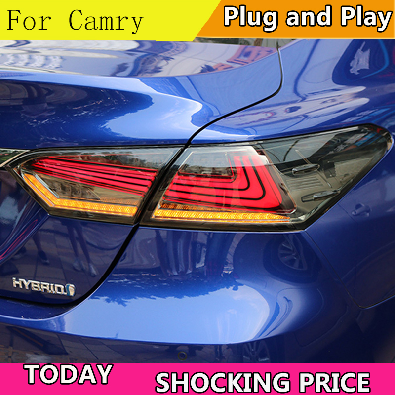 Car Styling for 2018 Toyota Camry Taillights Camry LED Tail Lamp Rear Lamp DRL Dynamic Turn