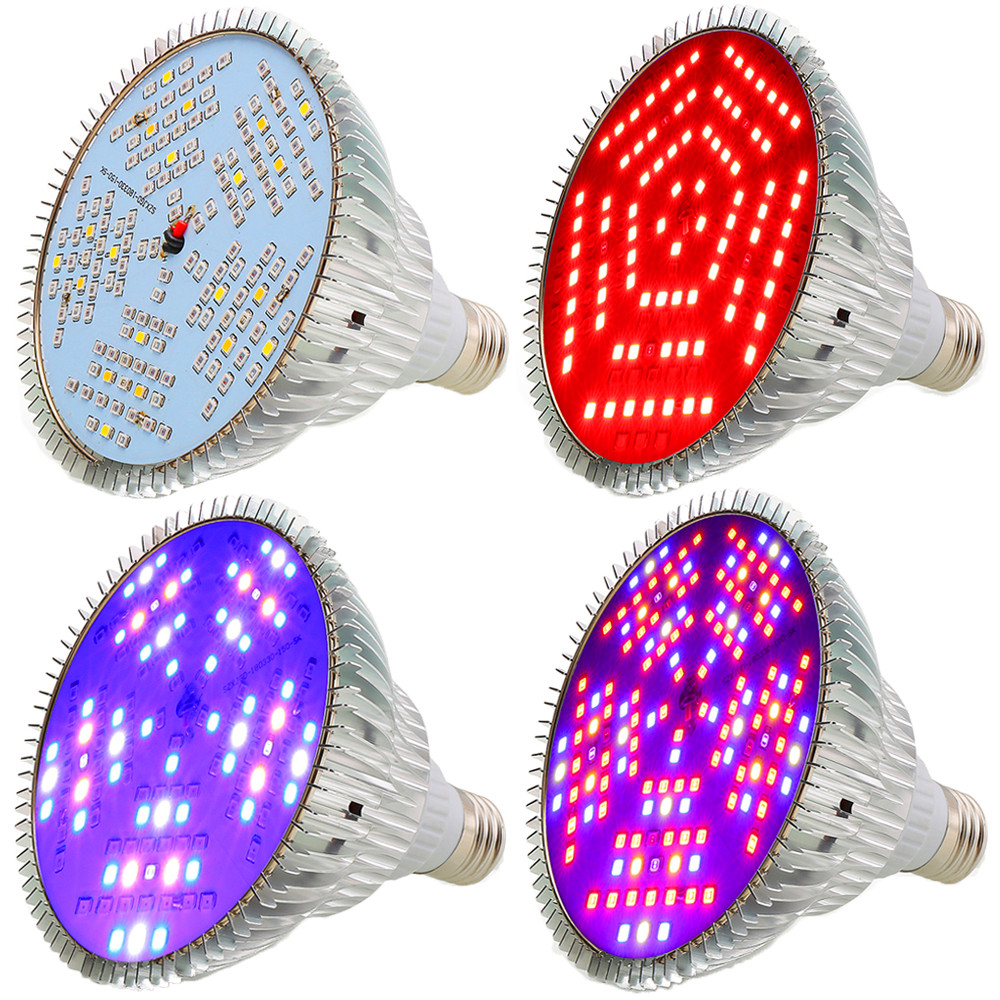 (4pcs/Lot) Full Spectrum 100W LED Grow Light IR UV Grow LED Lamp for Plant Indoor Hydroponics Greenhouse Lighting Color Change-in LED Grow Lights from Lights & Lighting    1