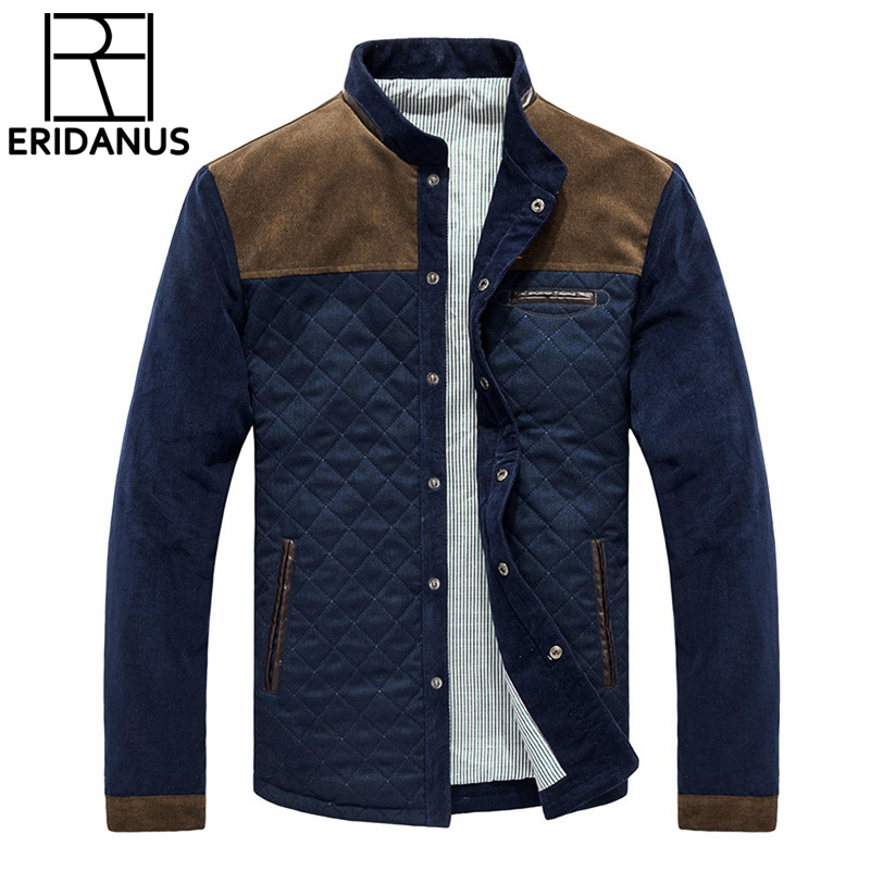 2017 Autumn Winter Brand Men Jackets Coats Business Casual Corduroy Jacket Jaquetas Slim Fit Male Jacket Hommes Coats 3XL X370