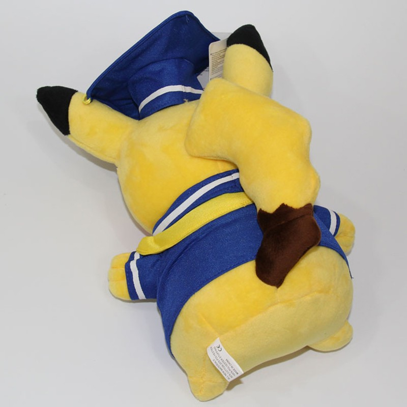 Kawaii Graduation Pikachu Cos Pokeball Cloth Plush Toys Soft Stuffed Animal Dolls for Children\'s Gift 13inch 32cm 2 Styles (14)