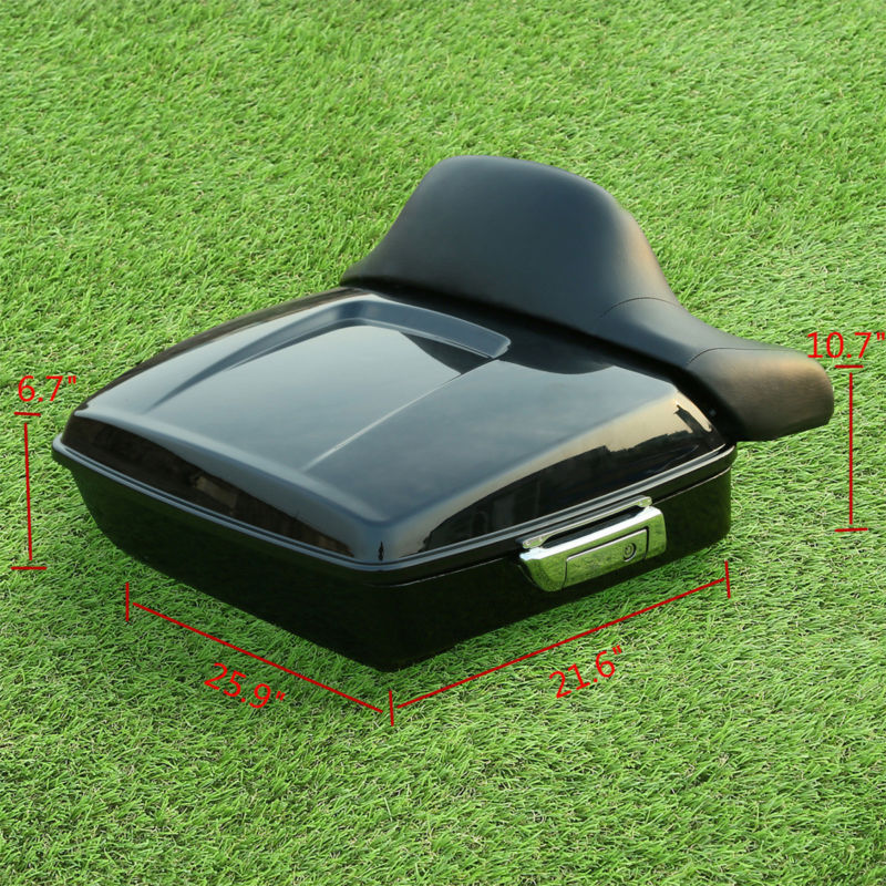 Motorcycle Chopped Tour Pak Trunk Backrest For Harley Touring Road King CVO Electra Street Glide FLHR FLHX FLTRX 2014 19 in Top Cases from Automobiles Motorcycles