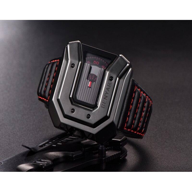 Top Brand BENYAR new creative quartz watch men's brand leather multi-purpose waterproof luxury business watch sports men's watch