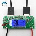 Dual USB 5 В 2.1A 1A Мобильный Банк Питания Зарядное Устройство ПЕЧАТНОЙ Платы повышение Step up Модуль СВЕТОДИОДНЫЙ Экран для 18650 Батареи DIY