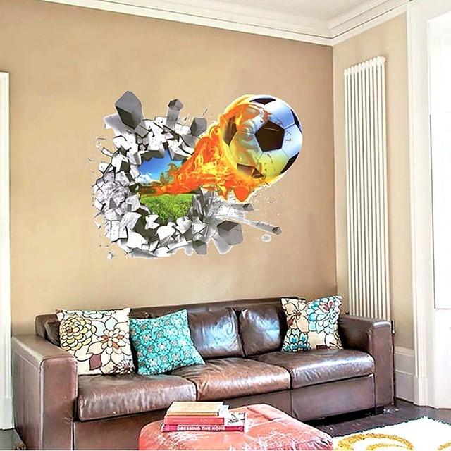3d Wodoodporna Piłka Nożna Piłka Przez ścianę Naklejki Wymienny
