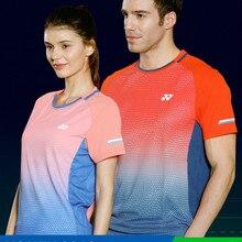 Yonex Yy мужские турны мужские футболки для бадминтона дышащие обычные спортивные футболки с коротким рукавом для женщин и мужчин