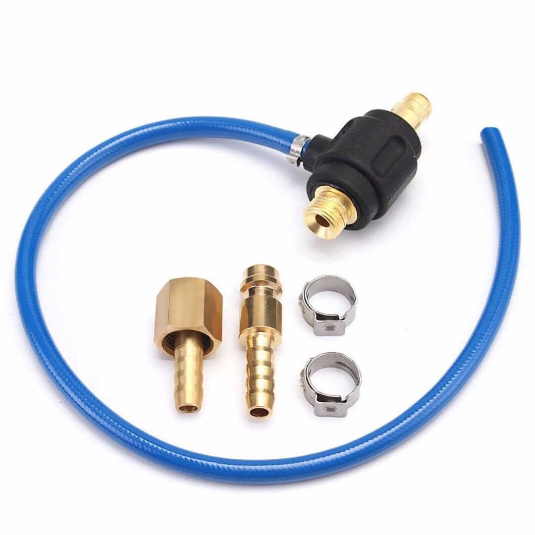 Wig-schweißen Gas Adapter Stecker 35-50 M16 Männlichen 9mm Schnelle Verbindung für WP 17 18 26 Wig-brenner 540mm Mayitr Schweißer Zubehör