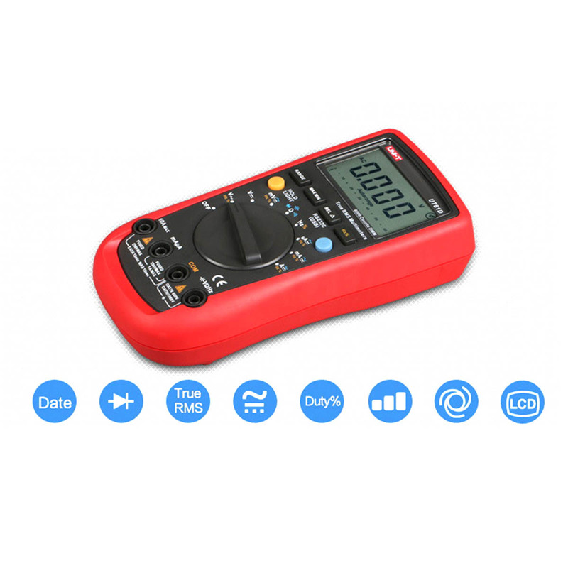 Digital Multimeter UNI-T UT61D Multimeter True RMS lcd backlight AC/DC V/A Ohm Freq multimeter Auto Range multimeter tester