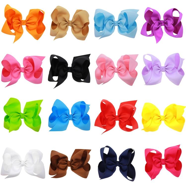 a44e088c5419 Naturalwell 6 Inch Hair Bows For Girls Children Girls Hair Clip ...
