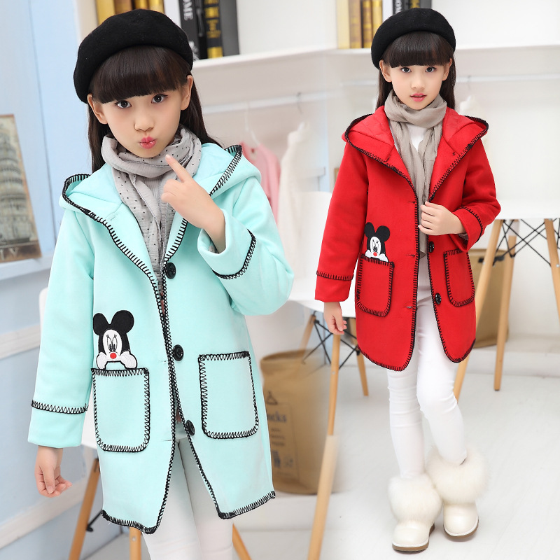 2016 new children s clothing paragraph cloth dust coat grows in cuhk girl with thick coat