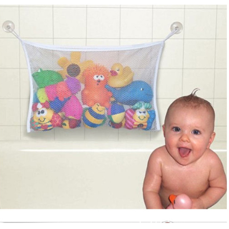 Bathroom Storage Bag Kids Baby Bath Tub Toy Tidy Storage Suction Cup Bag Mesh Bathroom Organiser Net Bath Toy