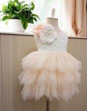 Au détail 2016 Fille fleur d'été robe de princesse, robes pour les filles, filles vêtements, RM02