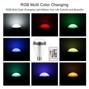 Image 3 - Bluetooth Altoparlante Intelligente Luce E27 LED Bianco + RGB Lampadina Lampada variopinta Musica Audio APP Telecomando o sul Telecomando altoparlante