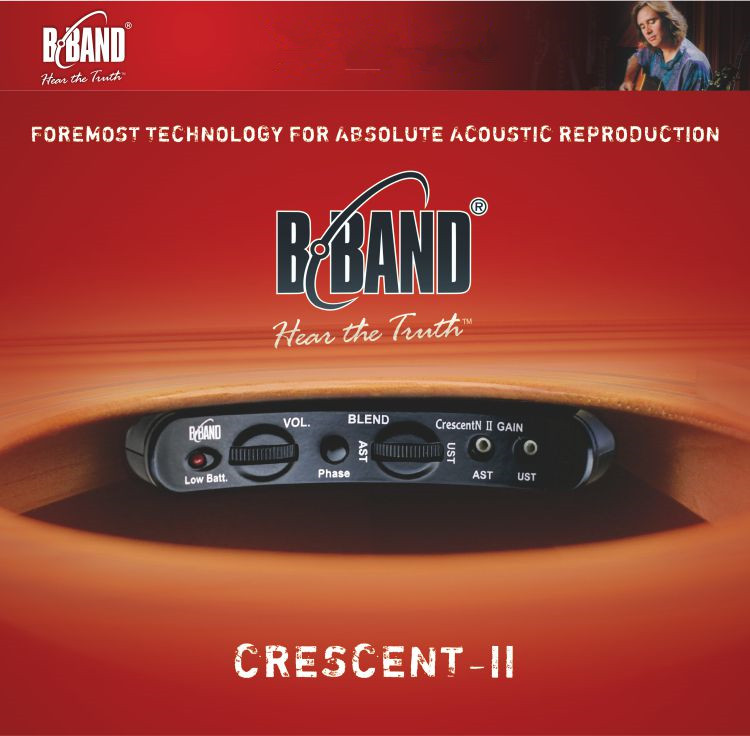 2018 New Factory Finland Original B BAND CRESCENT II Acoustic pickup Professional B Band CRESCENT Endpin