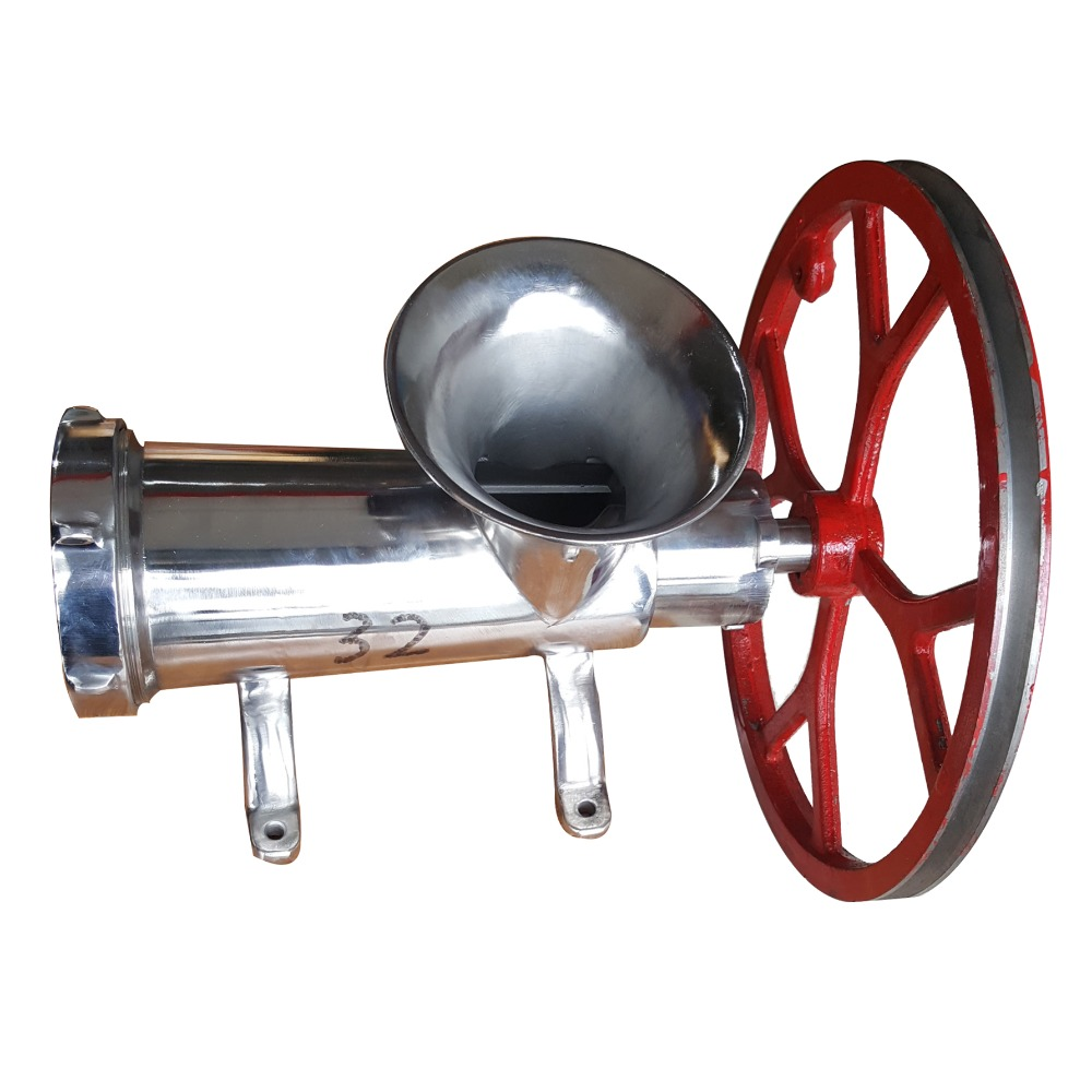 #32 304 Stainless Steel Mincer Manual Electric Mixer Meat Grinder Sausage Filler Tubes Heavy Duty Household Mincer