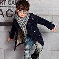 2017 Новый Корейской версии мальчика зима верхняя одежда детей сплошной цвет шерсти пальто детская clothing