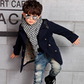 2017 Newest Korean version boy's winter outerwear children solid color wool coats children's clothing